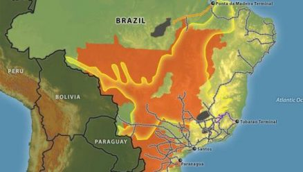 Brazil's Principal Commodity and Rail Networks